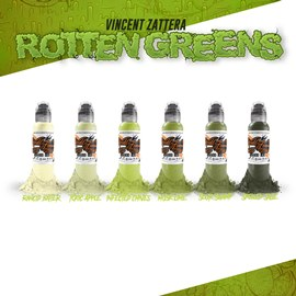 World Famous Ink Vincent Zattera's Rotten Green Set